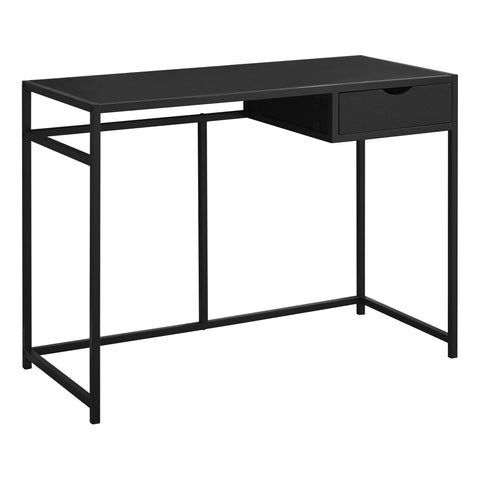 "COMPUTER DESK - 42""L / BLACK / BLACK METAL  MN-7220"