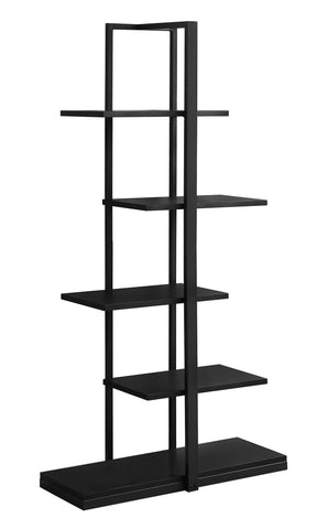 "BOOKCASE - 60""H / BLACK / BLACK METAL  MN-7231"