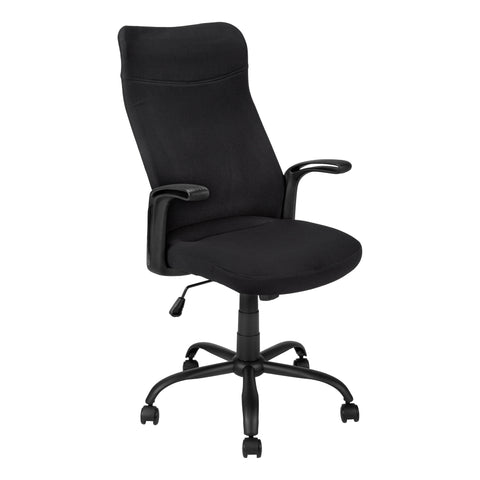 OFFICE CHAIR - BLACK / BLACK FABRIC / MULTI POSITION  MN-7248