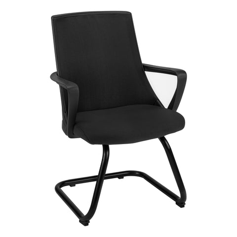 OFFICE CHAIR - 2PCS / GUEST BLACK MESH MID-BACK   MN-7264