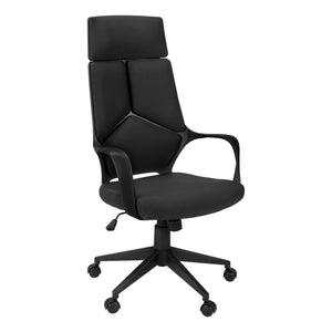 OFFICE CHAIR - BLACK / BLACK FABRIC / HIGH BACK EXECUTIVE    MN-7272