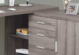"COMPUTER DESK - 60""L / DARK TAUPE LEFT OR RIGHT FACING  MN-7285"