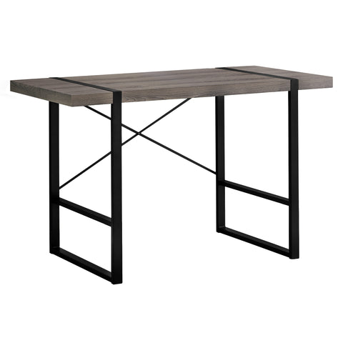 "COMPUTER DESK - 48""L / DARK TAUPE / BLACK METAL  MN-7310"