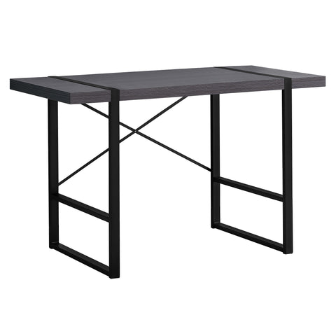"COMPUTER DESK - 48""L / GREY / BLACK METAL  MN-7312"
