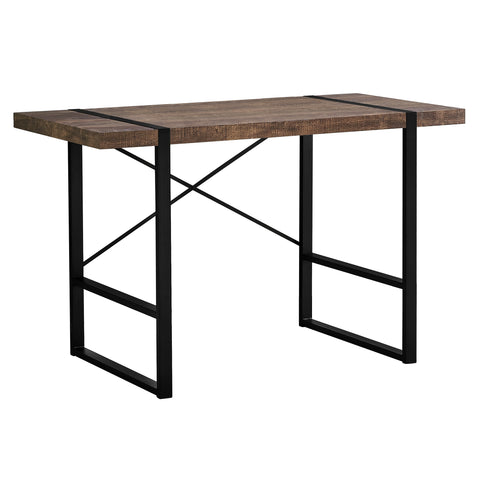 "COMPUTER DESK - 48""L / BROWN RECLAIMED WOOD / BLACK METAL  MN-7314"
