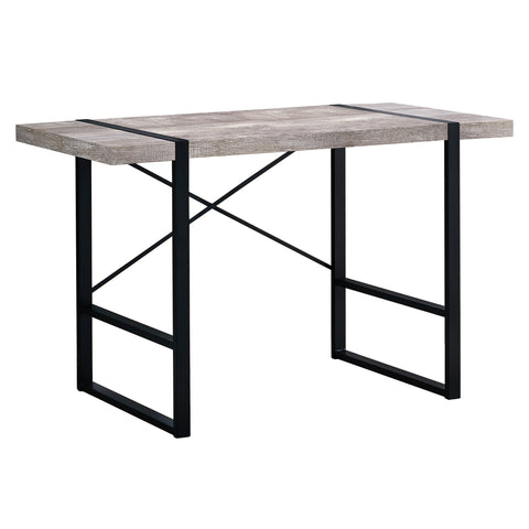 "COMPUTER DESK - 48""L / TAUPE RECLAIMED WOOD / BLACK METAL  MN-7315"