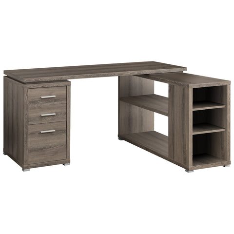 COMPUTER DESK - DARK TAUPE LEFT OR RIGHT FACING CORNER  MN-7319