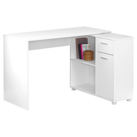 "COMPUTER DESK - 46""L / WHITE WITH A STORAGE CABINET  MN-7350"