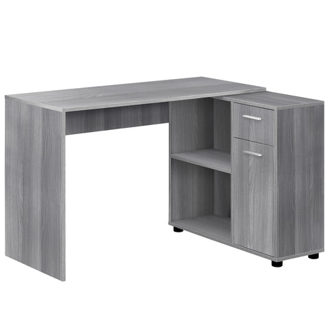 "COMPUTER DESK - 46""L / GREY WITH A STORAGE CABINET  MN-7351"