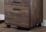 FILING CABINET - 3 DRAWER / BROWN RECLAIMED WOOD/ CASTORS  MN-7400