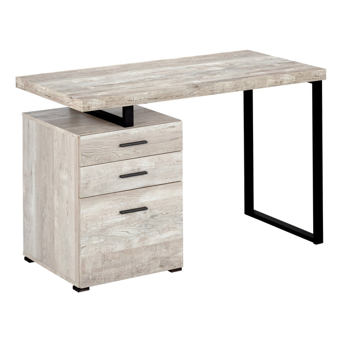 "COMPUTER DESK - 48""L / TAUPE RECLAIMED WOOD / BLACK METAL    MN-7410"