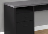 "COMPUTER DESK - 80""L / BLACK / GREY TOP LEFT/RIGHT FACING   MN-7435"