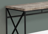 "COMPUTER DESK - 48""L / TAUPE RECLAIMED WOOD / BLACK METAL   MN-7452"