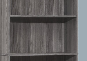 "BOOKCASE - 72""H / GREY WITH 5 SHELVES    MN-7469"