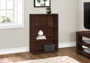 "BOOKCASE - 36""H / CHERRY WITH 3 SHELVES    MN-7475"