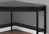 "COMPUTER DESK - 42""L / BLACK / GREY TOP CORNER / BLACK  MN-7503"