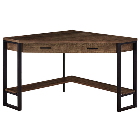"COMPUTER DESK - 42""L / BROWN RECLAIMED WOOD CORNER   MN-7504"