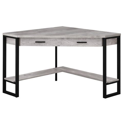 "COMPUTER DESK - 42""L / GREY RECLAIMED WOOD CORNER   MN-7505"