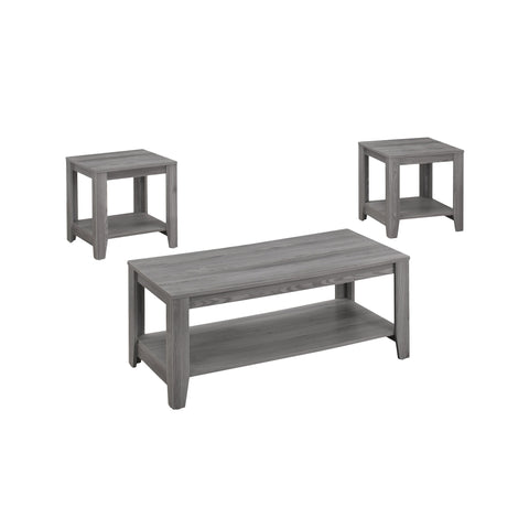 TABLE SET - 3PCS SET / GREY  MN-7991P