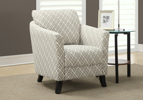 "ACCENT CHAIR - SANDSTONE / GREY "" MAZE "" FABRIC    MN-8009"