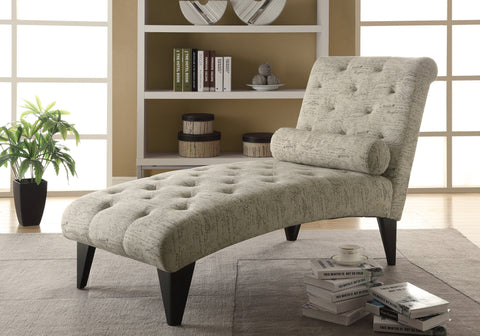 CHAISE LOUNGER - VINTAGE FRENCH FABRIC    MN-8034