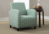 "ACCENT CHAIR - FADED GREEN "" ANGLED KALEIDOSCOPE ""    MN-8043"