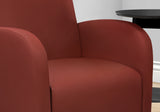 ACCENT CHAIR - RED LEATHER-LOOK FABRIC  MN-8051