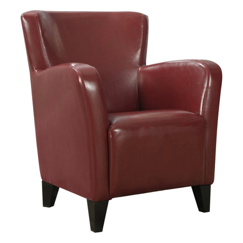 ACCENT CHAIR - RED LEATHER-LOOK FABRIC  MN-8068