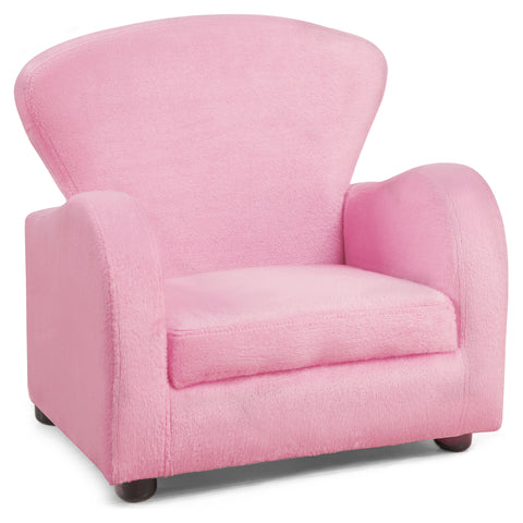 JUVENILE CHAIR - FUZZY PINK FABRIC  MN-8142