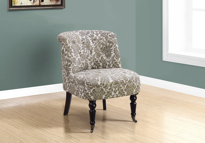 ACCENT CHAIR - TRADITIONAL STYLE TAUPE TAPESTRY   MN-8170