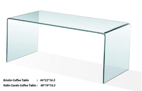 Solid Glass Table - Kristin or Halle