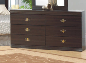 6 Pc Bedroom Set - Shadow Oak NB-51