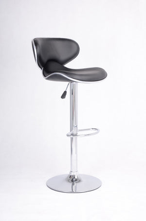 Adjustable Bar Stool - Black and Chrome  ST-7700