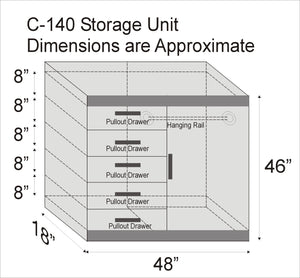STR C-140 Storage Unit - Available in various colours