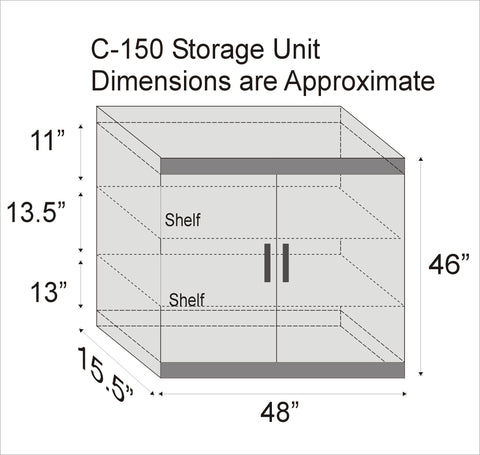 STR C-150 Storage Unit - Available in various colours