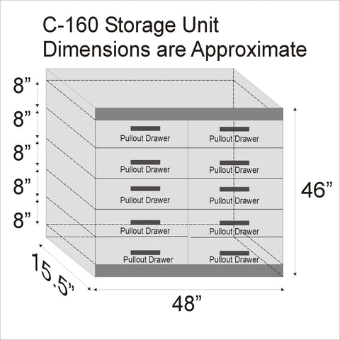 C-160 Storage Unit - Available in various colours