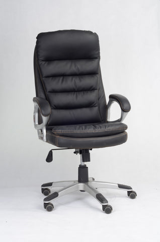 Office Chair, Black PU Vinyl  IF-7410