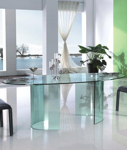 Glass Dining Table Sapphire - Modern Glass