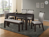 Dining Set - Espresso Table with Edging Design  T-1540 | C-1541 / C-1541