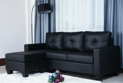 Sectional Sofa, Grey or Black - Anna