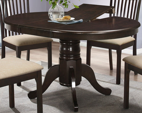 Dining Table Only, Round Wood with Butterfly Adjustable Leaf  T-1029