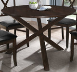 Dining Table Only -  Modern Design Round Espresso Table  T-1038