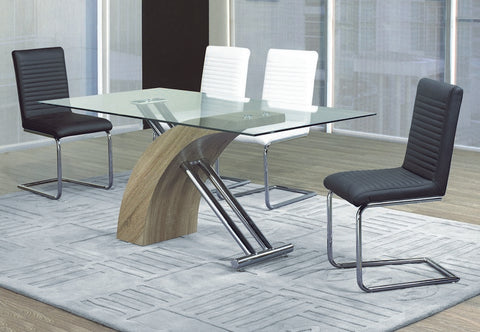 5 Pc Dining Set with Black or White Chairs T-1042 | C-1040
