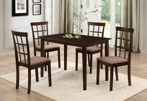 5 Pc Dining set - Wooden Table and Chairs  T-1047 / C-1010