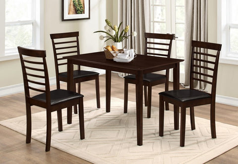 5 Pc Dining set - Wooden Table and Chairs  T-1047 / C-1011
