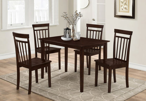 5 Pc Dining set - Wooden Table and Chairs  T-1047 / C-1013