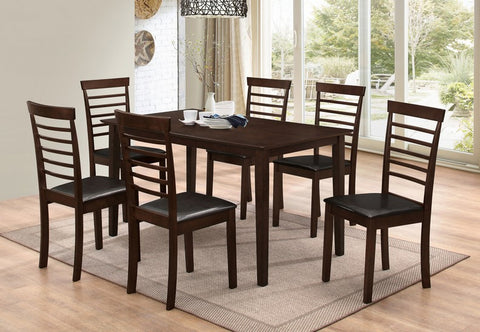 7 Pc Dining set - Wooden Table and chairs  T-1048 / C-1011