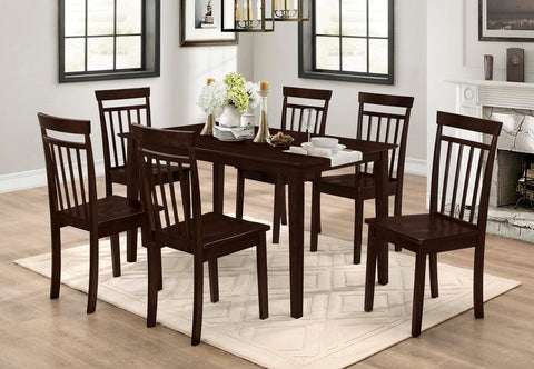 7 Pc Dining set - Wooden Table and chairs  T-1048 / C-1013