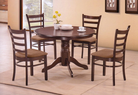 5 Pc Dining Set Round Table  T-1060 C-1066