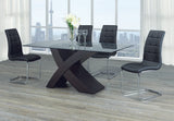 Dining Set with Black Chairs T-1092 | C-1750
